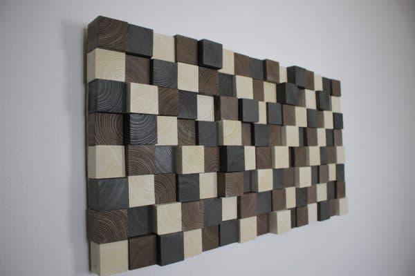 kelki wanddecoratie v vorm hout