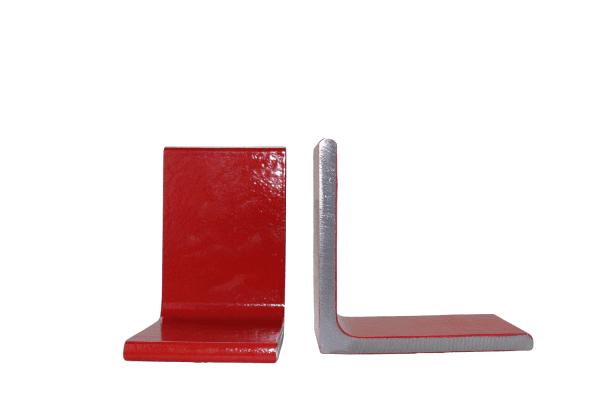 boekensteun rood metaal