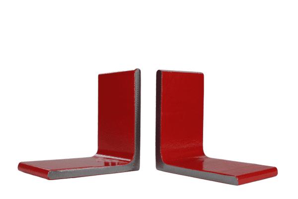 zware rode boekensteun metaal 2