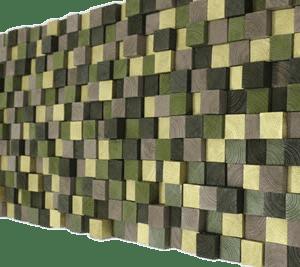 3d houtenwanddecoratie goud groen