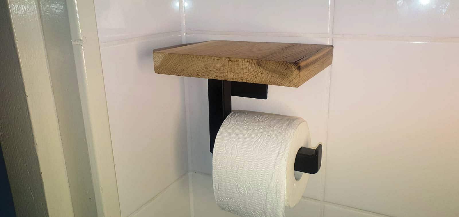 industriele wc rolhouder eiken