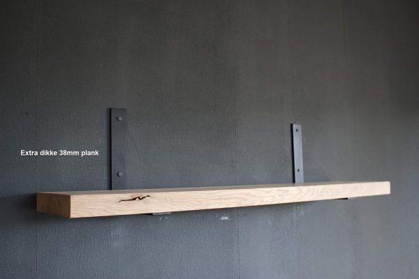 extra dikke eiken boekenplank met veel draag vermogen